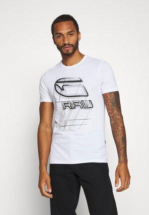 PERSPECTIVE LOGO GR SLIM - T-shirt imprimé - white