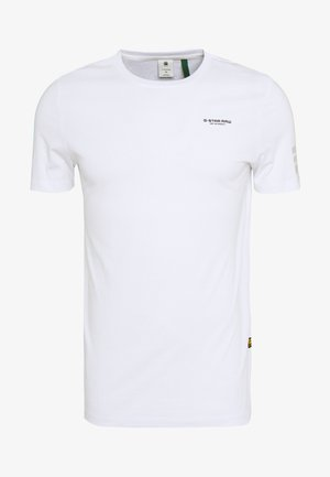 FLAG TEXT GR SLIM  - T-shirt con stampa - white