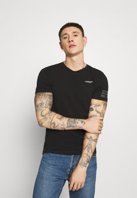 G-Star - TEXT GR SLIM - Camiseta estampada - black - 0