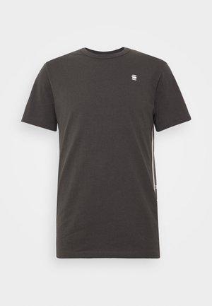 SIDE STRIPE GR - T-shirt print - raven