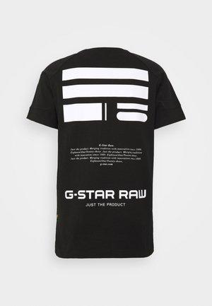 KORPAZ LOGOS GR - Print T-shirt - dark black