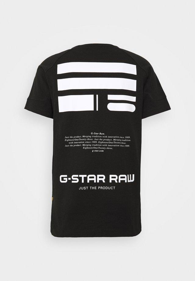 KORPAZ LOGOS GR - Camiseta estampada - dark black