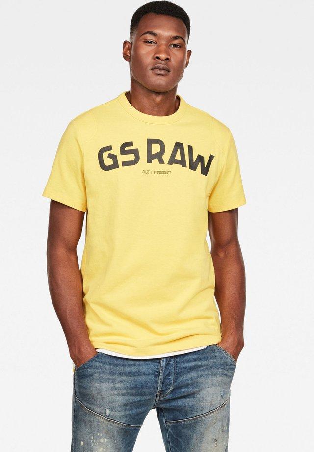 GSRAW - T-shirt print - lemon
