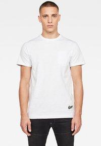 G-Star - CONTRAST POCKET - Basic T-shirt - white - 0