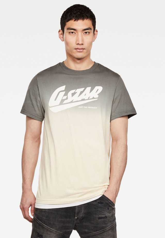 DIP DYE GR - Print T-shirt - grey moss