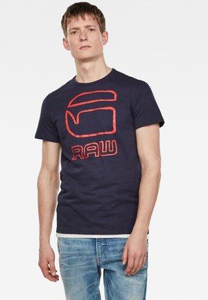 GRAPHIC GRAW STRAIGHT - T-Shirt print - sartho blue