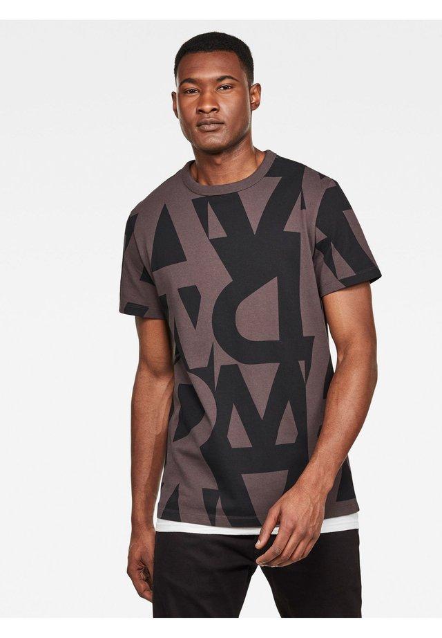 RAW AO GR R T S\S DULL PURPLE ART DECO MEN - T-shirt print - dull purple art deco