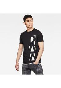 G-Star - VERTICAL RAW GR SLIM R T S\S DK BLACK MEN - T-shirt print - dk black - 2