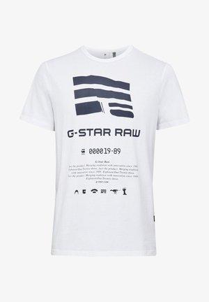GRAPHIC LOGO - T-shirt imprimé - white