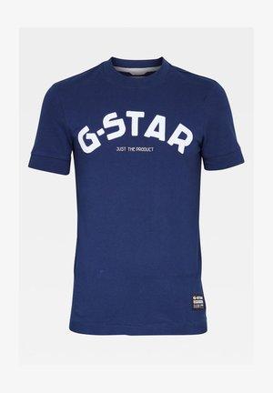 FELT APPLIQUE LOGO SLIM R T S\S IMPERIAL BLUE MEN - T-shirt print - imperial blue