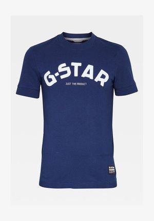FELT APPLIQUE LOGO SLIM R T S\S IMPERIAL BLUE MEN - T-shirt imprimé - imperial blue
