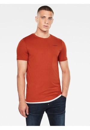 TEXT GR SLIM - T-shirt basic - cinnamon orange