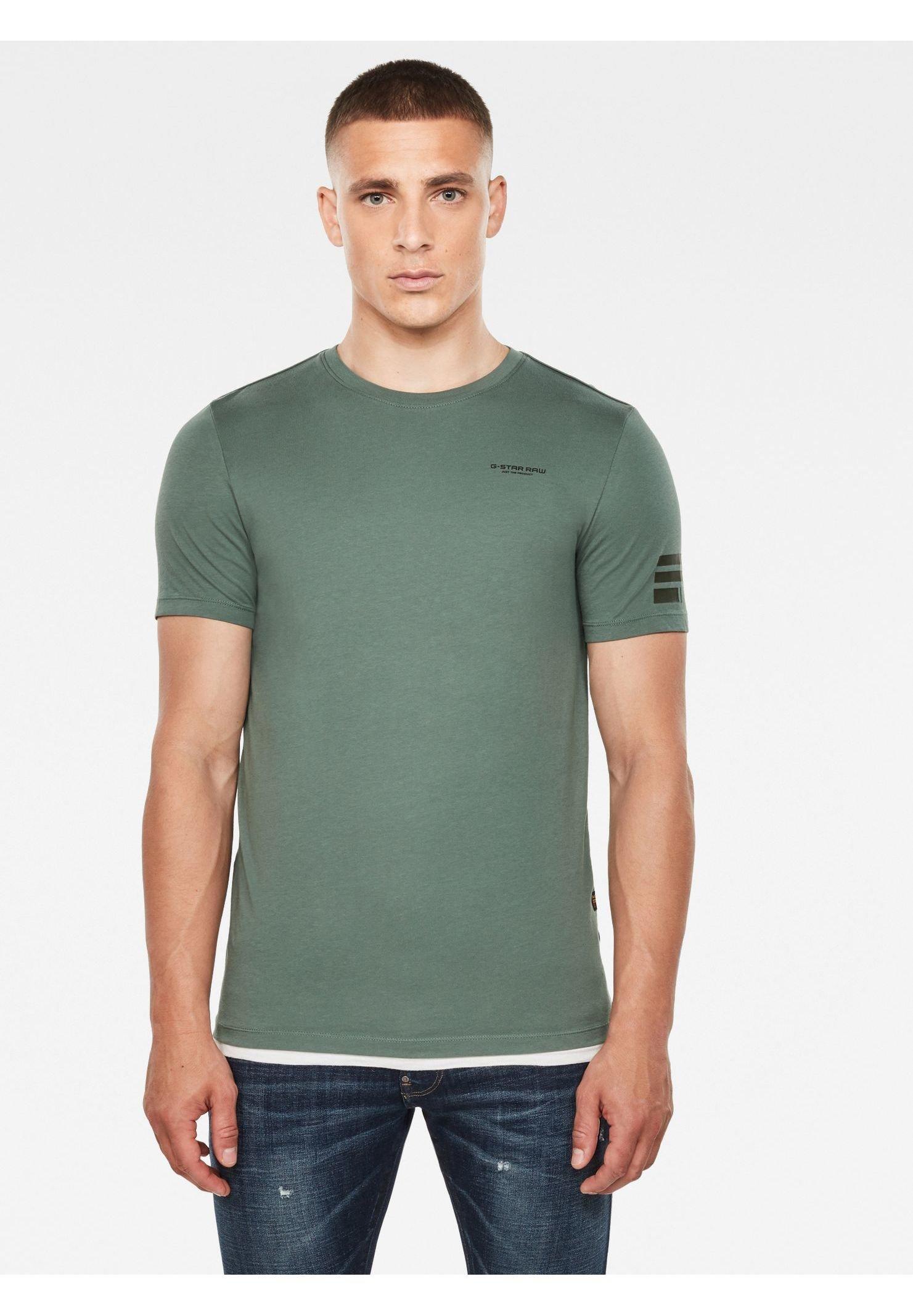 G Star TEXT GR SLIM T shirt imprimé shadow ZALANDO.FR