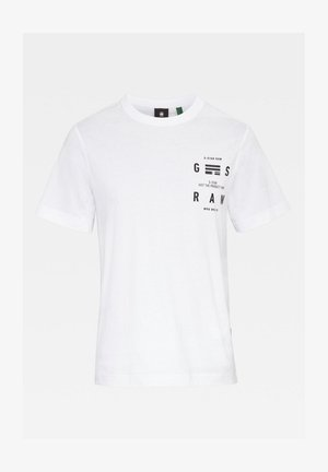 BACK GRAPHIC LOGO + - T-shirt con stampa - white