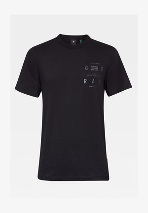 BACK GRAPHIC LOGO + - T-shirt con stampa - dk black