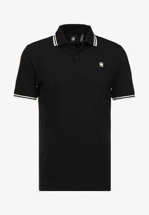 DUNDA SLIM STRIPE - Poloshirt - dark black/milk