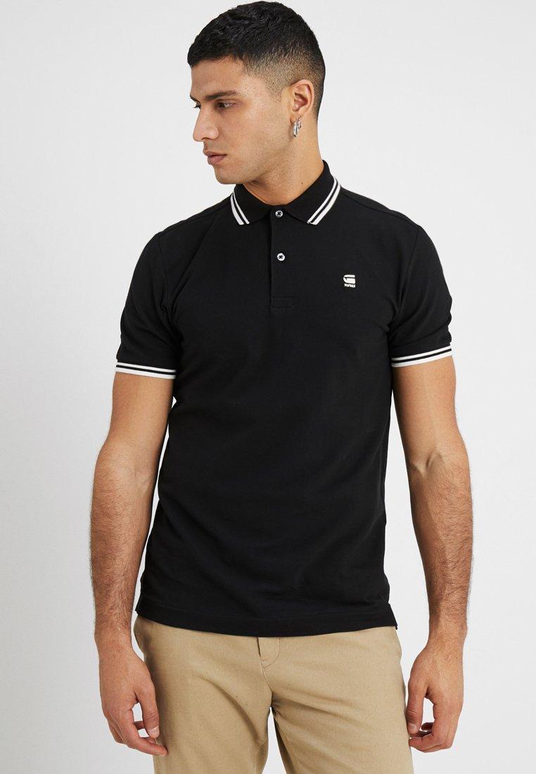 G-Star - DUNDA SLIM STRIPE - Poloshirt - dark black/milk