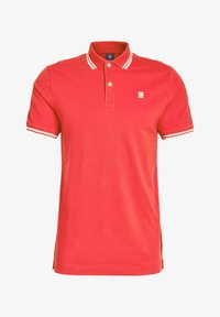 G-Star - DUNDA SLIM STRIPE - Polo shirt - flame/milk - 3
