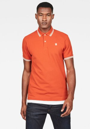 SLIM STRIPE - Polo shirt - royal orange/milk