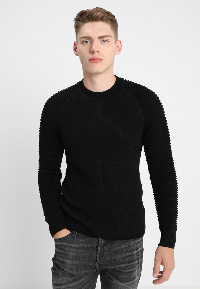 G-Star - SUZAKI PRO R KNIT L/S - Sweter - dark black