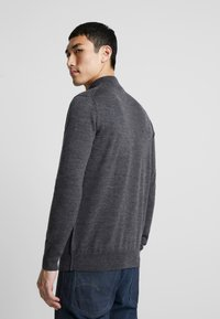 G-Star - CORE MOCK TURTLE - Stickad tröja - dark grey heather - 2