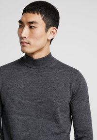 G-Star - CORE MOCK TURTLE - Stickad tröja - dark grey heather - 4