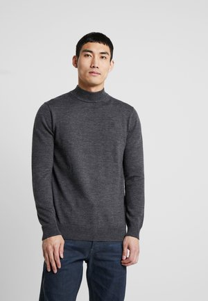 CORE MOCK TURTLE - Stickad tröja - dark grey heather