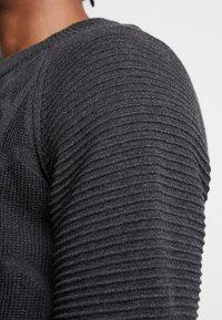 G-Star - SUZAKI BIKER STRAIGHT - Stickad tröja - dark grey heather - 3