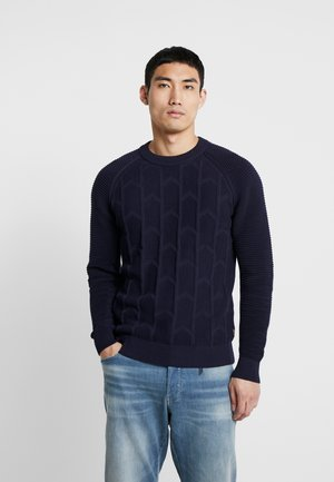 SUZAKI BIKER STRAIGHT - Jumper - dark saru blue