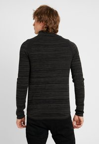 G-Star - ZIP THROUGHSOLLI KNIT L/S - Vest - asfalt/dark black - 2