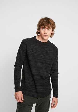 CORE SOLLI STRAIGHT R KNIT L/S - Jumper - dark black/asfalt