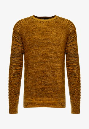 MUZAKI KNIT L/S - Stickad tröja - gold/black