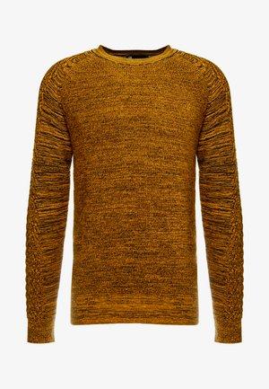 MUZAKI KNIT L/S - Jersey de punto - gold/black