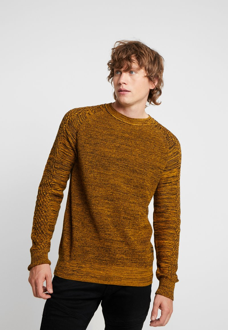 G-Star - MUZAKI KNIT L/S - Jumper - gold/black