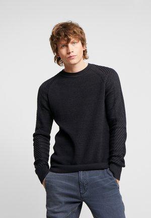MUZAKI KNIT L/S - Stickad tröja - dark saru blue/asfalt