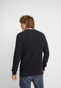 G-Star - MUZAKI KNIT L/S - Jumper - dark saru blue/asfalt - 2