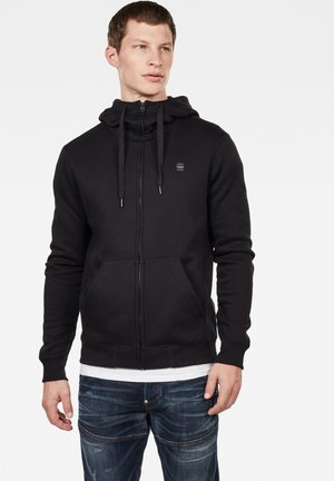 PREMIUM  - veste en sweat zippée - black