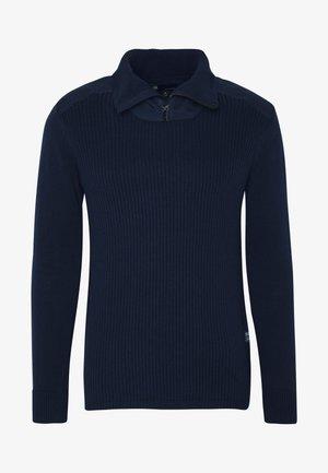 DAST HALF ZIP - Stickad tröja - sartho blue