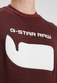 G-Star - REVIR STOR RAGLAN R SW L/S - Sweatshirt - dark fig heather - 4