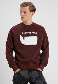 G-Star - REVIR STOR RAGLAN R SW L/S - Sweatshirt - dark fig heather - 0