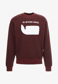 G-Star - REVIR STOR RAGLAN R SW L/S - Sweatshirt - dark fig heather - 3