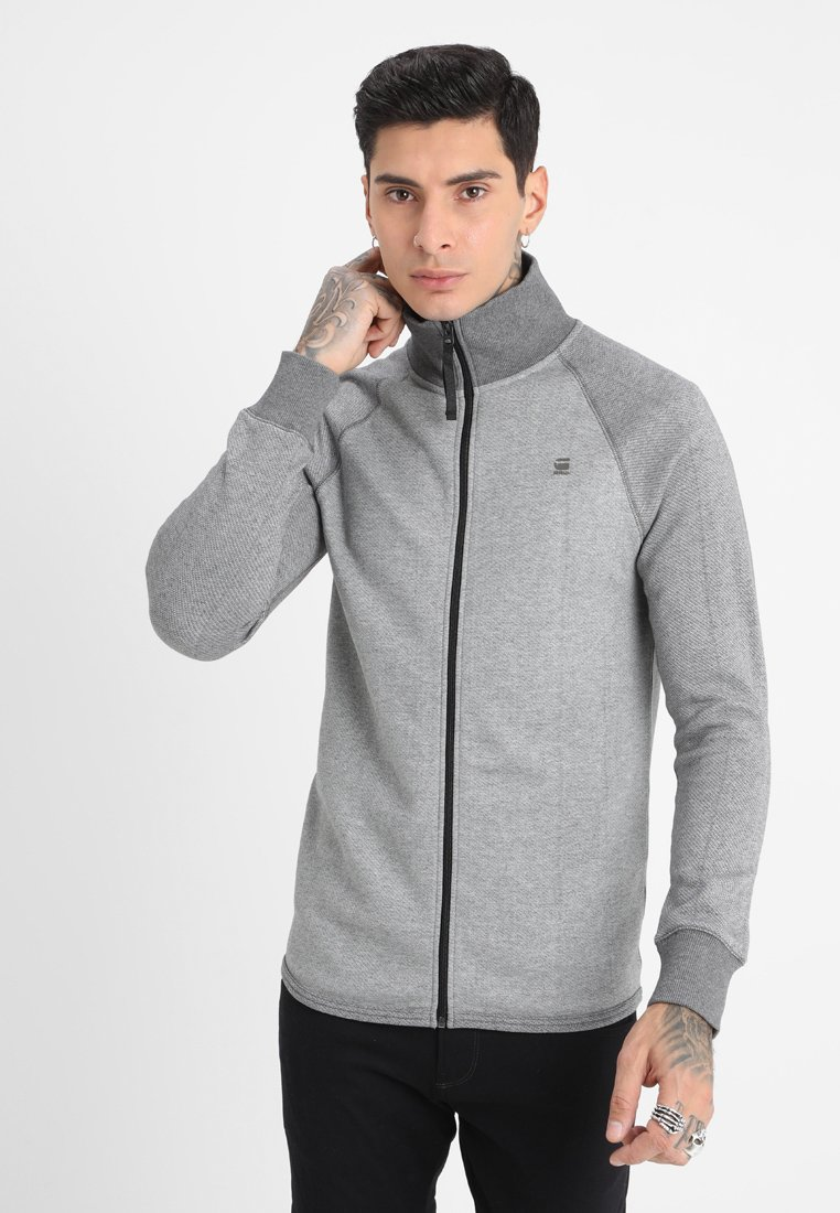 G-Star - JIRGI ZIP R T L\S - Sweatjacke - metal grey heather/carbid heather