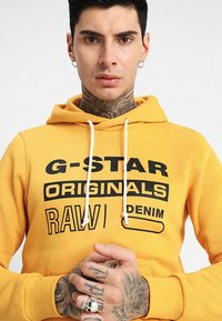 G-Star - Sweat à capuche - saffron - 5