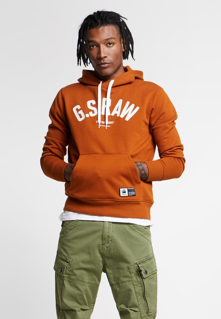 G-Star - GRAPHIC 14 CORE HOODED - Jersey con capucha - aged almond