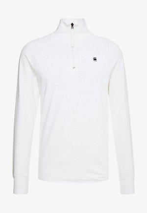 JIRGI HALF ZIP - Top sdlouhým rukávem - white