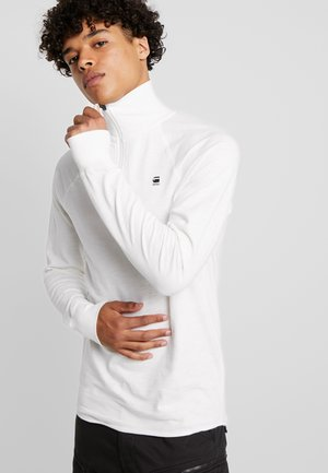 JIRGI HALF ZIP - Long sleeved top - white