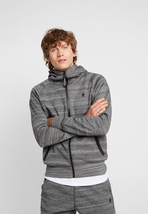 AERO LAAH SLIM HDD ZIP SW L\S - Hoodie met rits - black heather