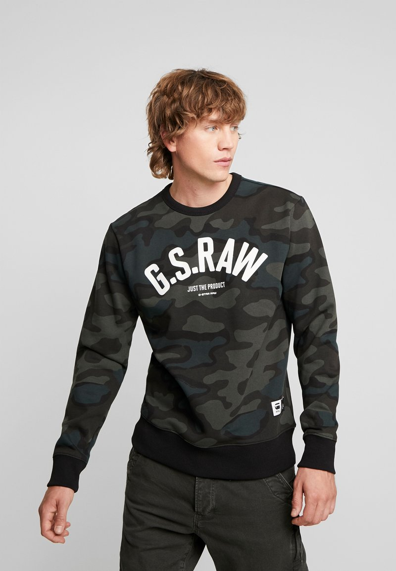 G-Star - GRAPHIC SLIM CREW  - Sweatshirt - combat fearn