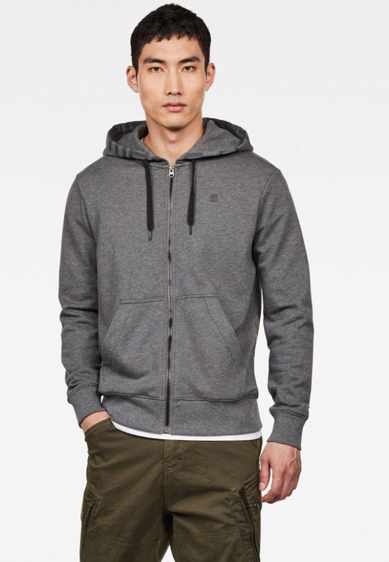 G-Star - GRAPHIC LOGO CORE - Zip-up hoodie - granite