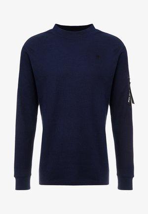 KYLIO WAFFLE SLEEVE PKT - Stickad tröja - sartho blue